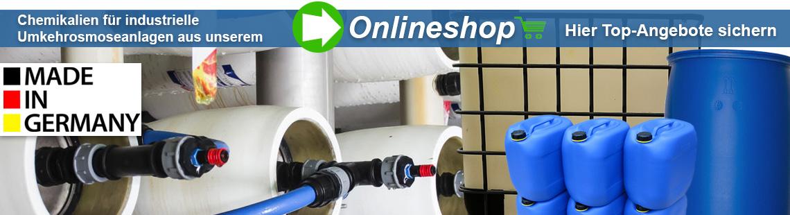 Chemikalien für Umkehrosmoseanlagen UVT Onlineshop